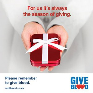 Give the ultimate gift – Give Blood this Christmas.