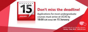 UCAS Deadline Jan 15th.