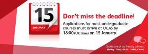 UCAS Deadline Jan 15th.