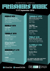 Freshers Week is here!