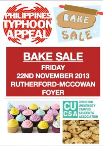 CUCSA Bake Sale in aid of the Philippines Typhoon Appeal