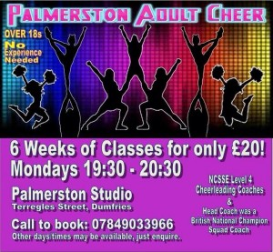 Cheerleading Classes Starting 28/04
