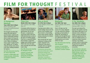 Films for Thought – 24th- 28th Feb